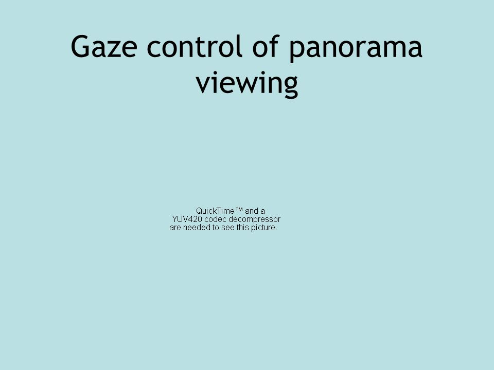 Gaze control of panorama viewing