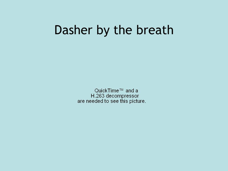 Dasher by the breath