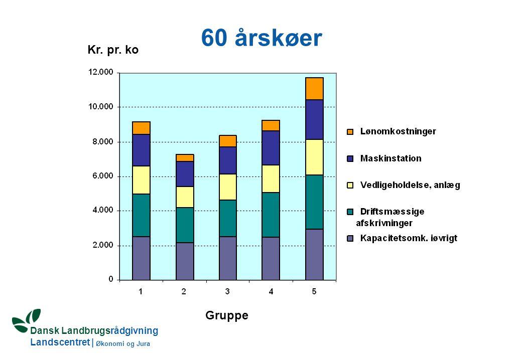 Dansk Landbrugsrådgivning Landscentret | Økonomi og Jura 60 årskøer Gruppe Kr. pr. ko
