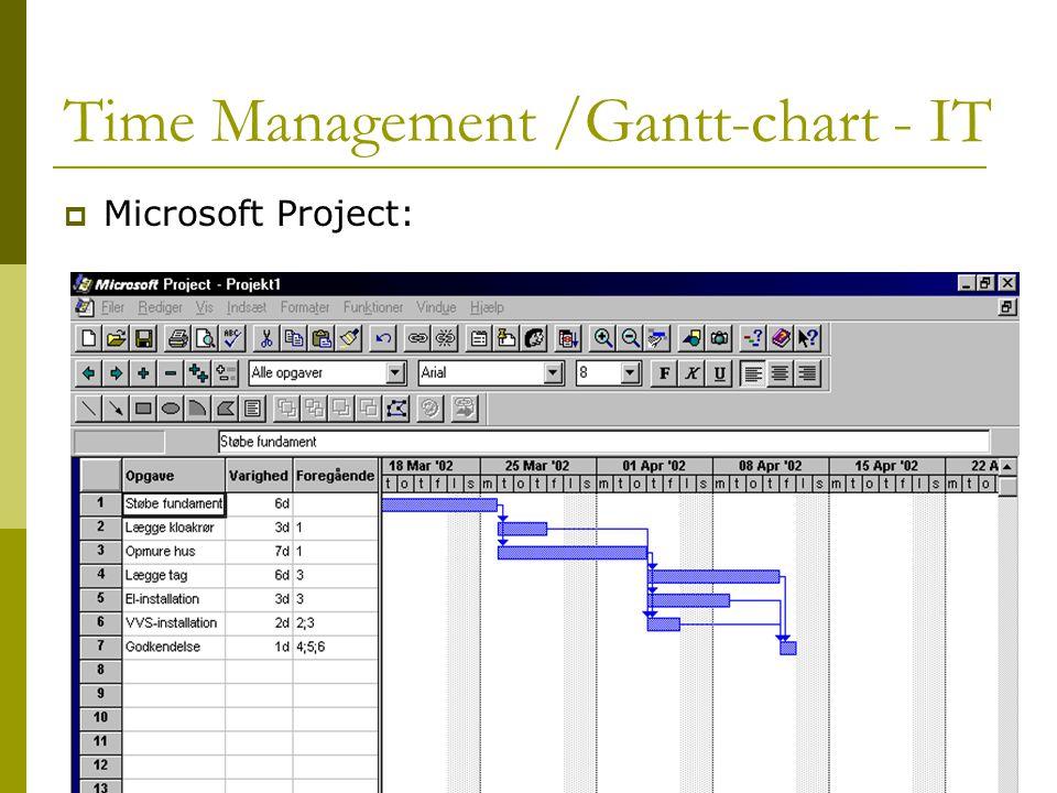 Time Management /Gantt-chart - IT  Microsoft Project: