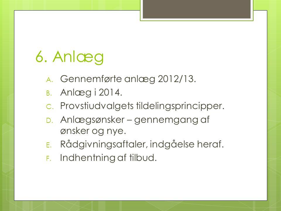 6. Anlæg A. Gennemførte anlæg 2012/13. B. Anlæg i 2014.