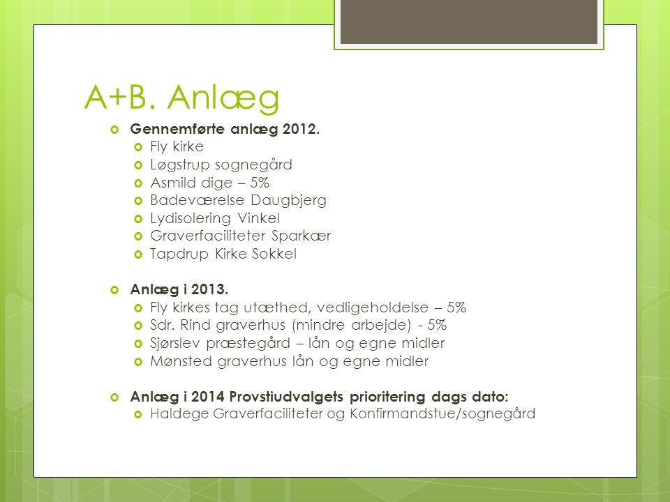 A+B. Anlæg  Gennemførte anlæg 2012.