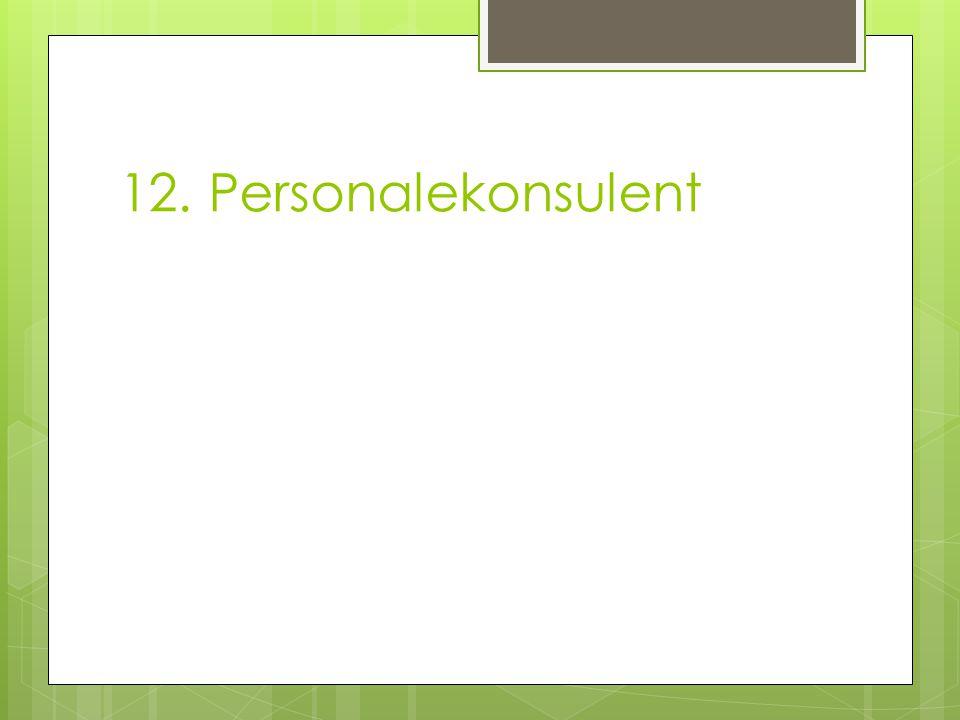 12. Personalekonsulent