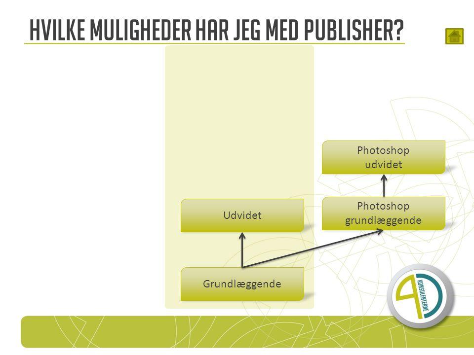 Photoshop grundlæggende Hvilke muligheder har jeg med Publisher.
