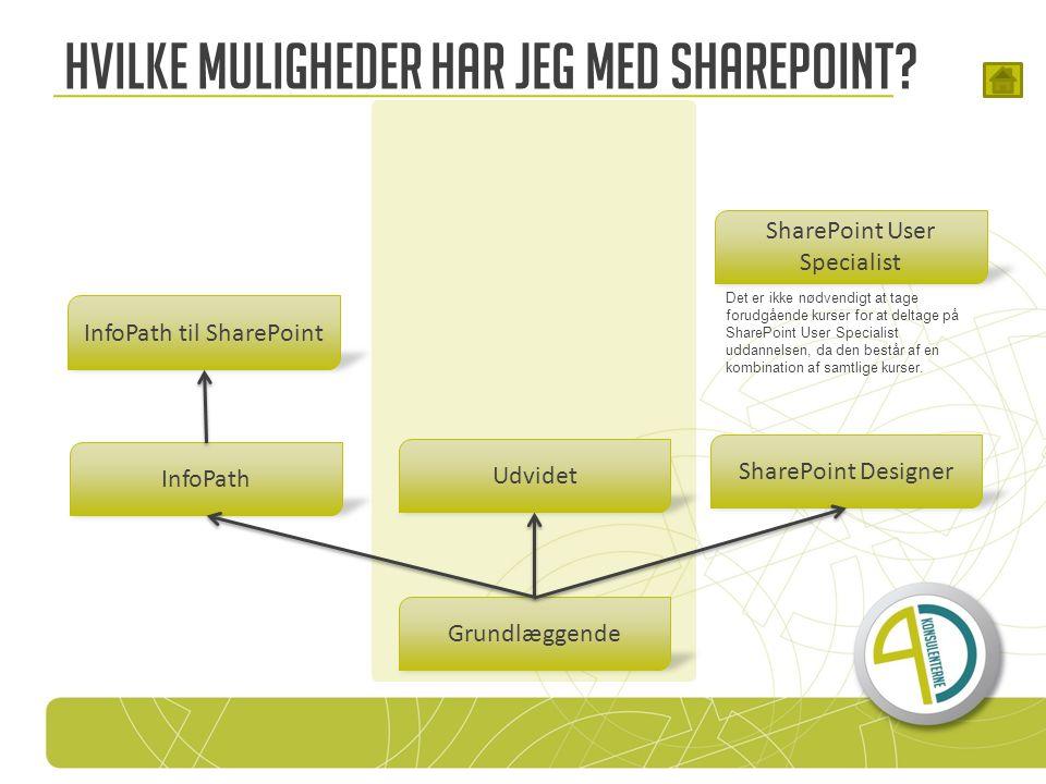 SharePoint Designer Hvilke muligheder har jeg med SharePoint.