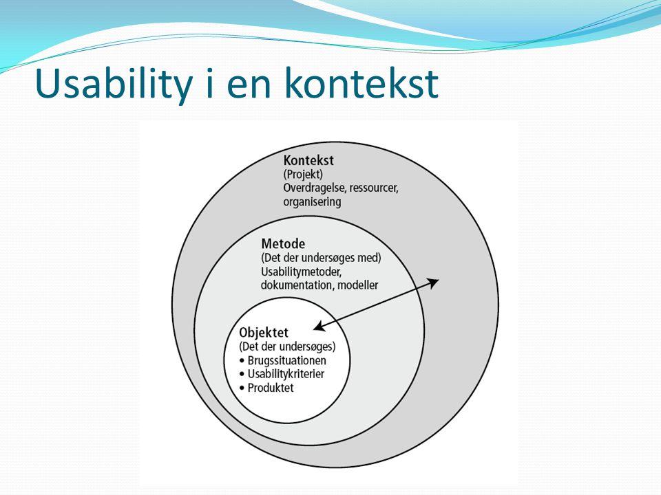 Usability i en kontekst