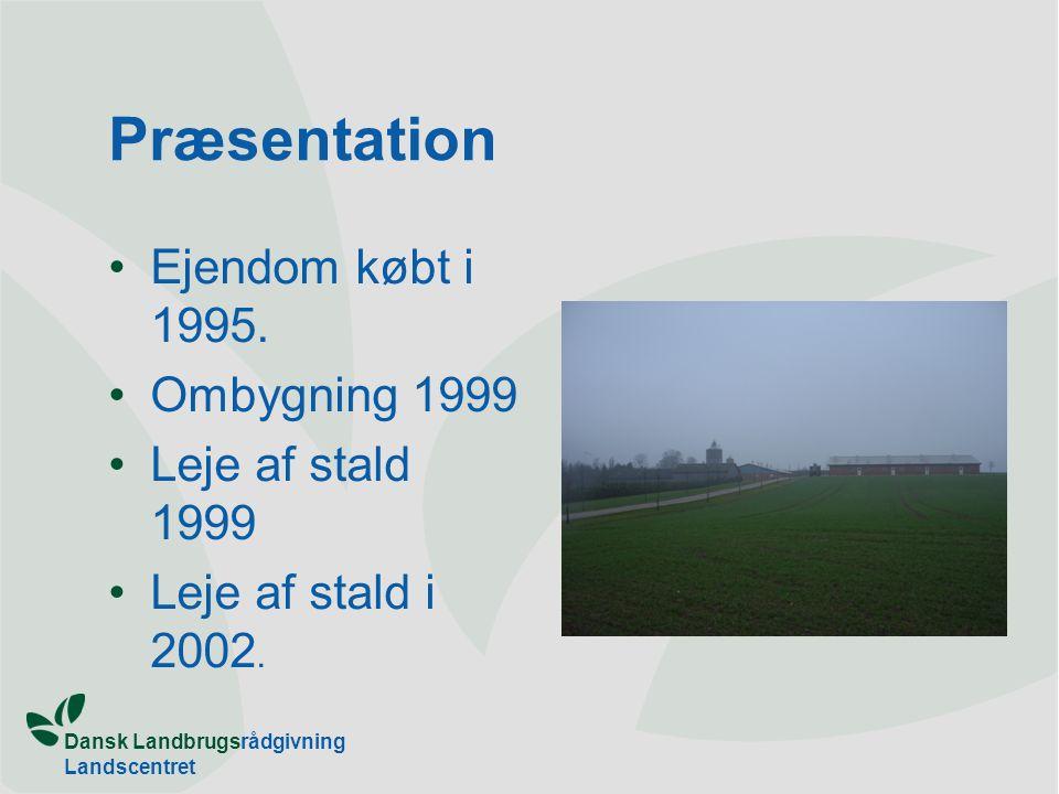Dansk Landbrugsrådgivning Landscentret Præsentation Ejendom købt i 1995.