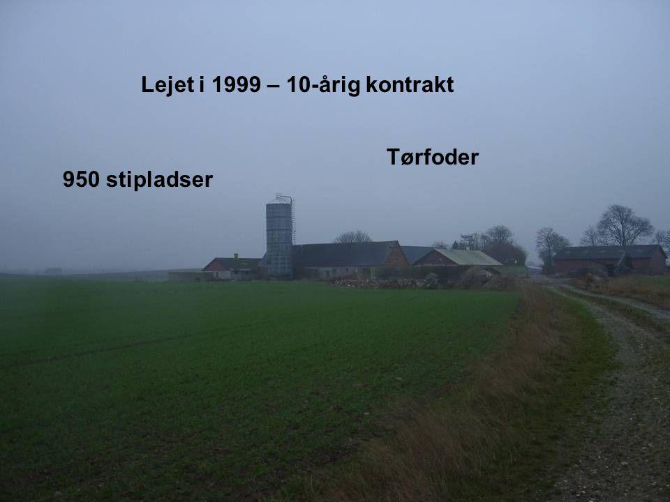 Dansk Landbrugsrådgivning Landscentret 950 stipladser Tørfoder Lejet i 1999 – 10-årig kontrakt