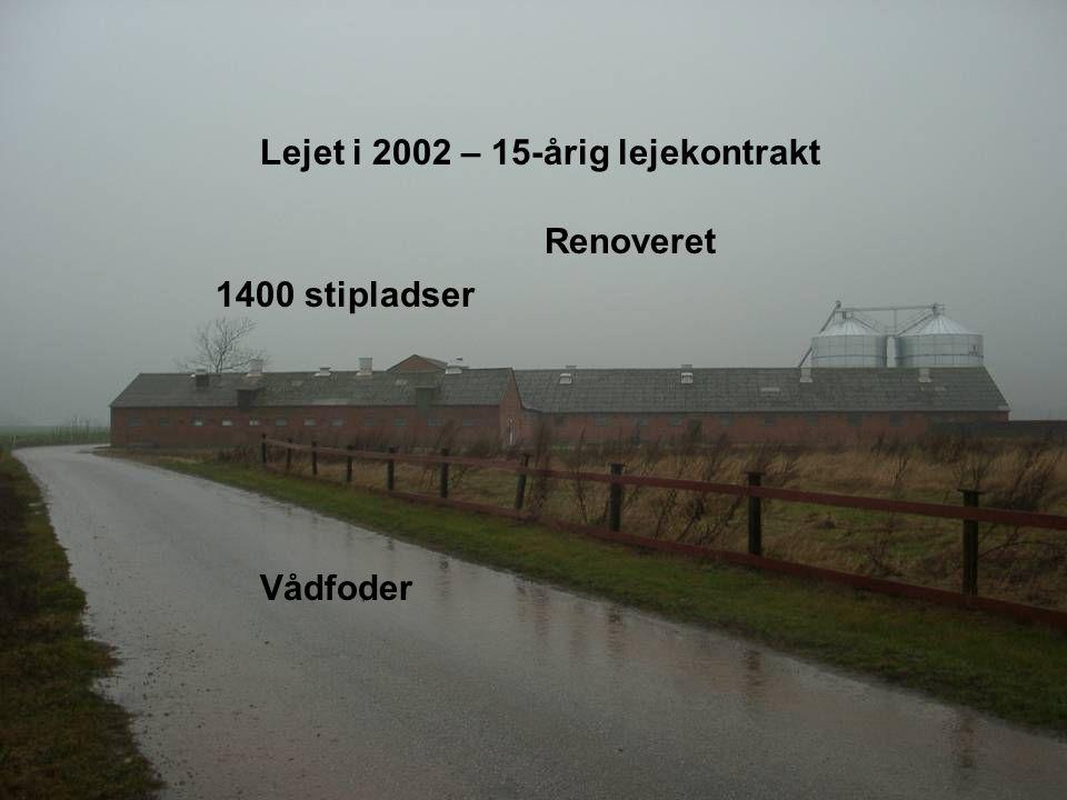 Dansk Landbrugsrådgivning Landscentret Lejet i 2002 – 15-årig lejekontrakt 1400 stipladser Renoveret Vådfoder