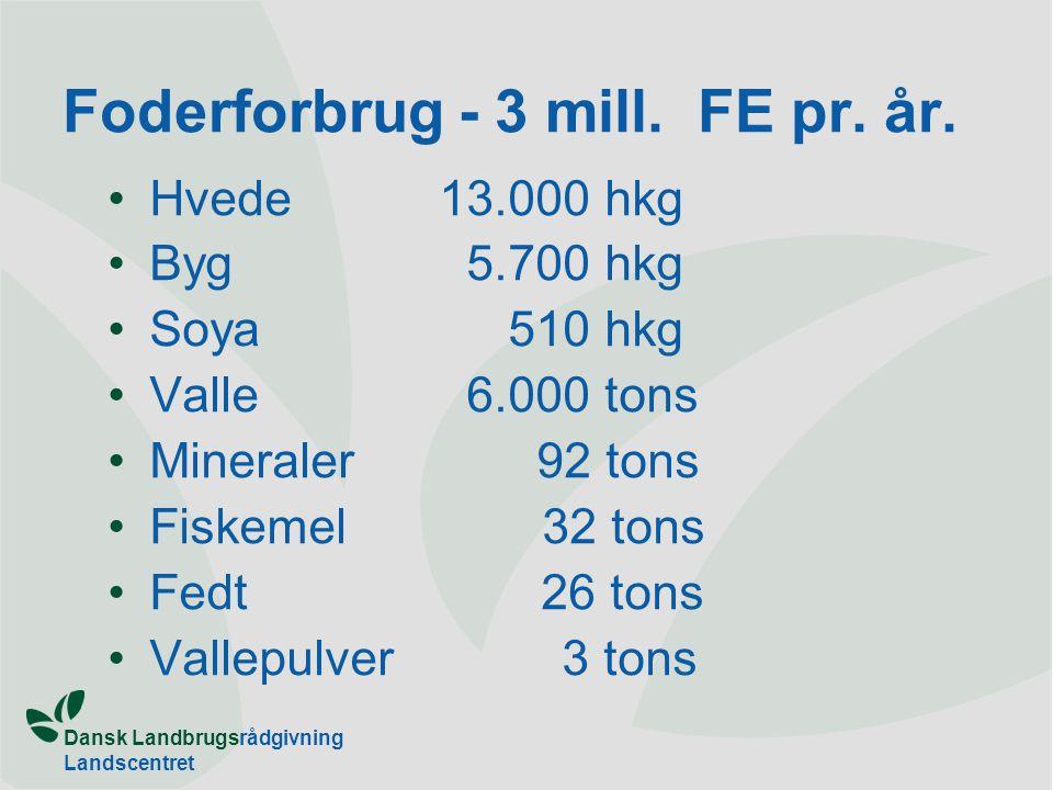Dansk Landbrugsrådgivning Landscentret Foderforbrug - 3 mill.