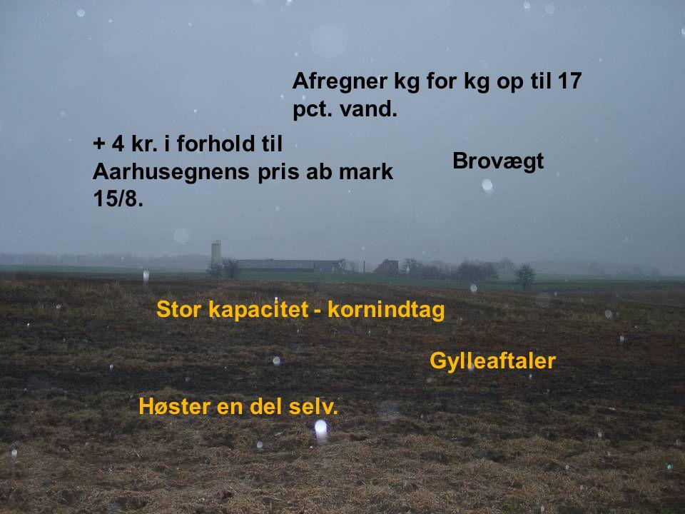 Dansk Landbrugsrådgivning Landscentret Afregner kg for kg op til 17 pct.