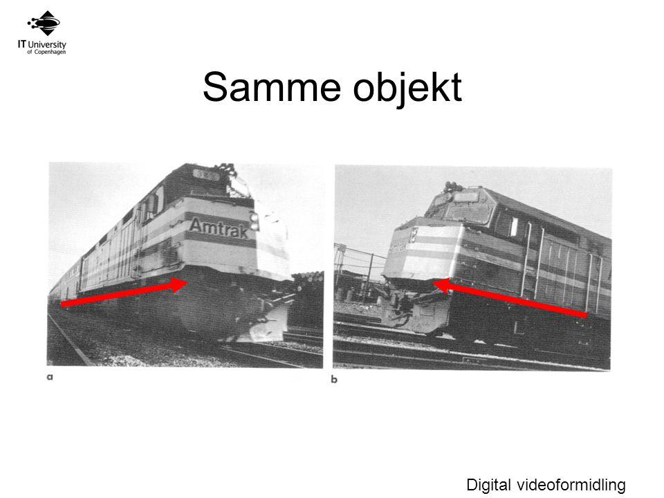 Digital videoformidling Samme objekt
