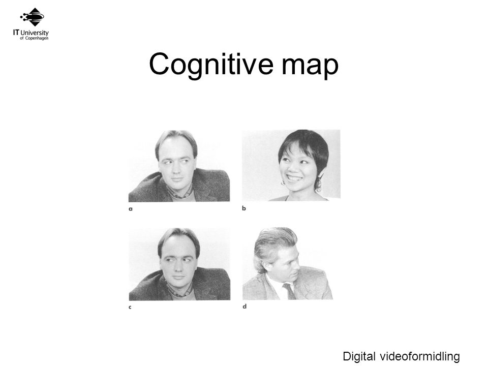 Digital videoformidling Cognitive map