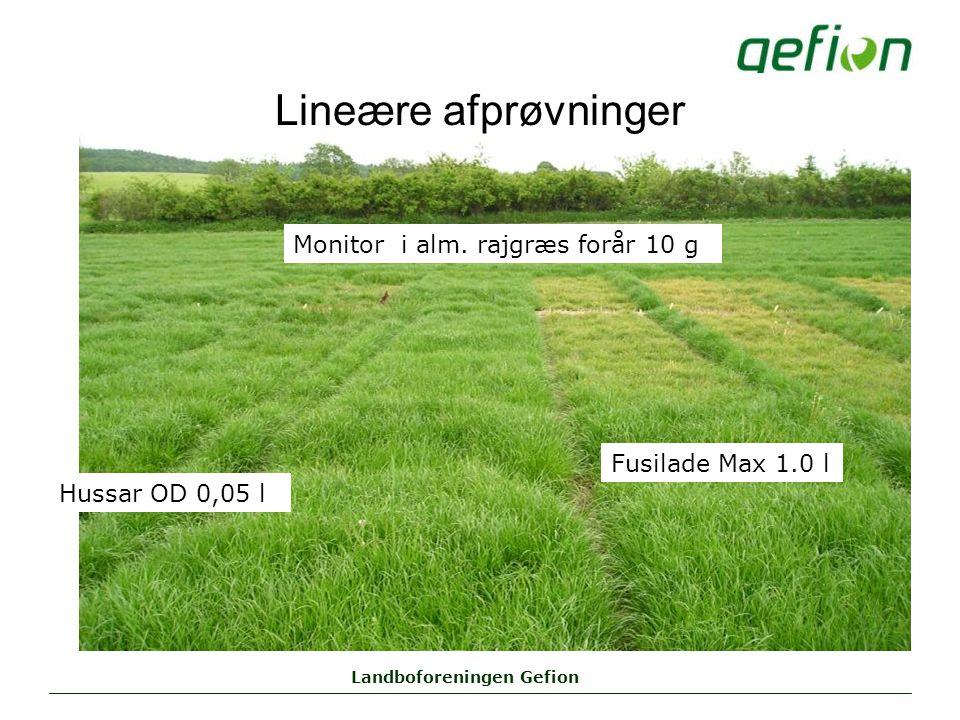 Landboforeningen Gefion Lineære afprøvninger Monitor i alm.
