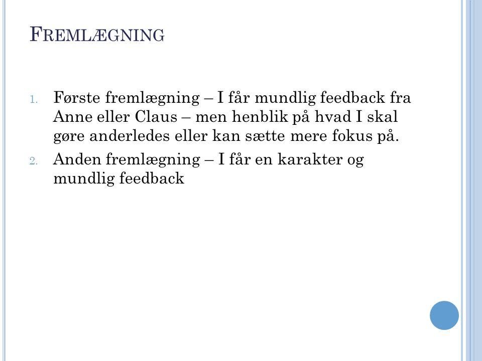 F REMLÆGNING 1.