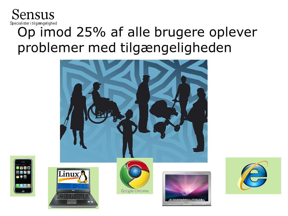 Op imod 25% af alle brugere oplever problemer med tilgængeligheden