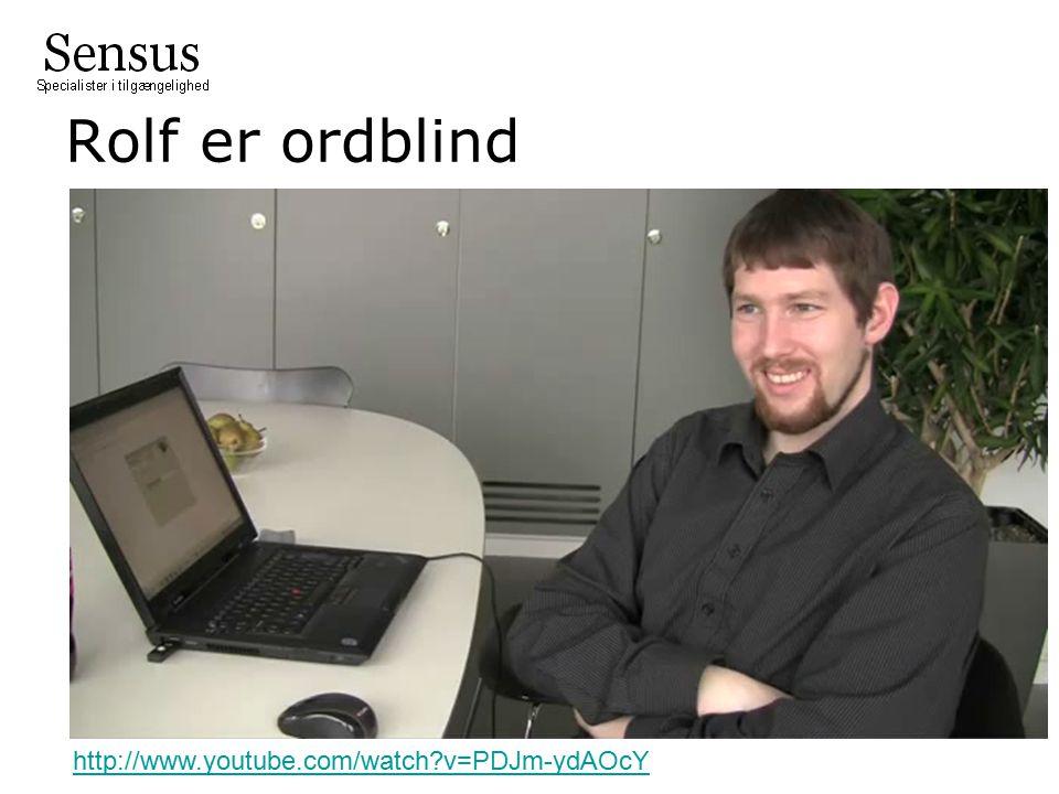 Rolf er ordblind http://www.youtube.com/watch v=PDJm-ydAOcY