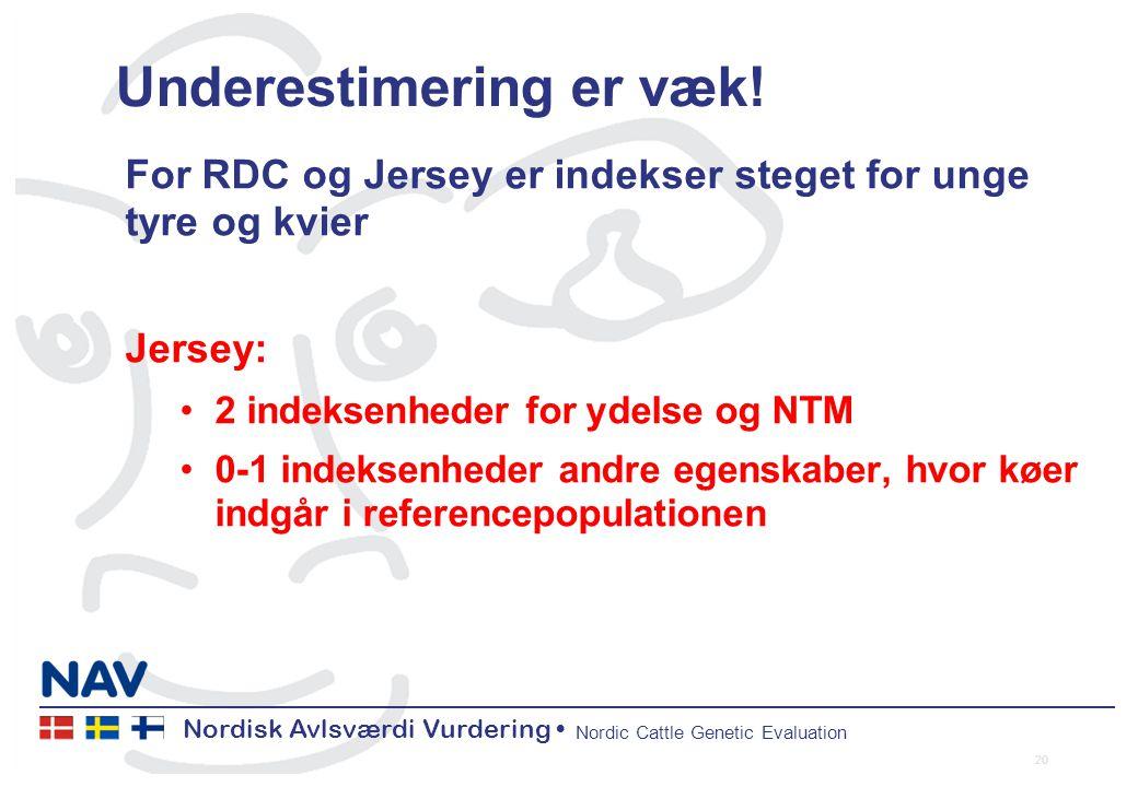 Nordisk Avlsværdi Vurdering Nordic Cattle Genetic Evaluation Underestimering er væk.