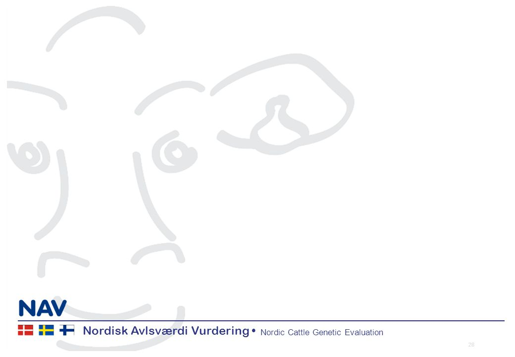 Nordisk Avlsværdi Vurdering Nordic Cattle Genetic Evaluation 28