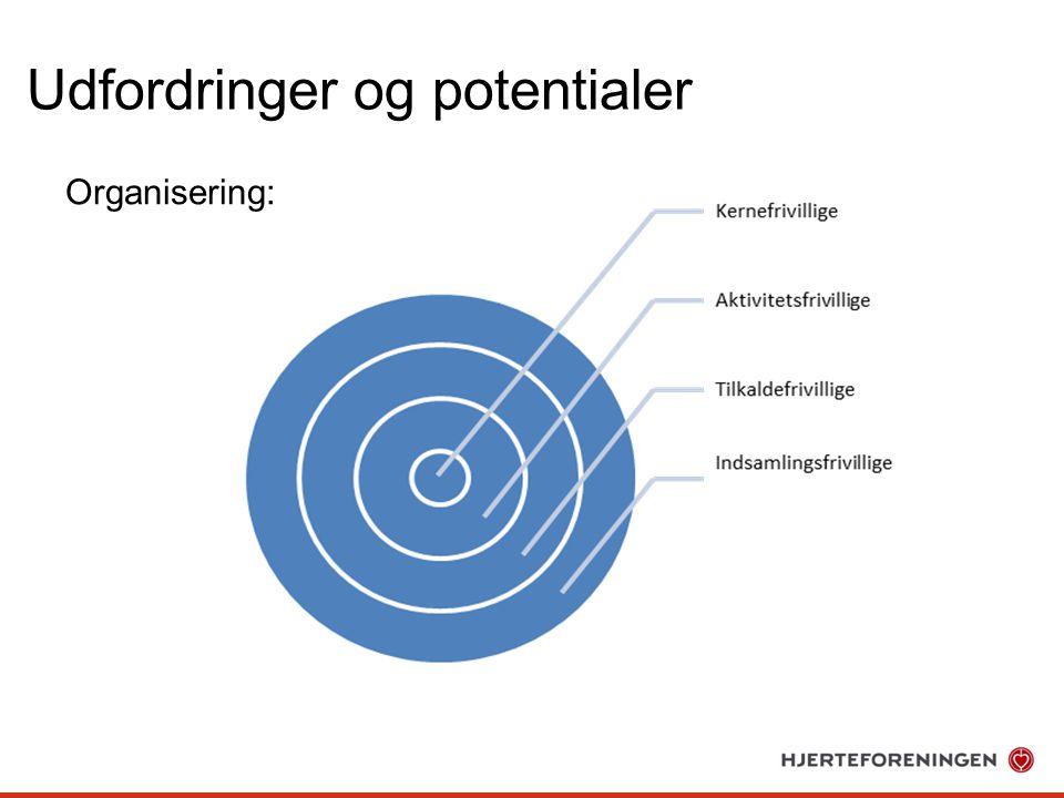 Udfordringer og potentialer Organisering: