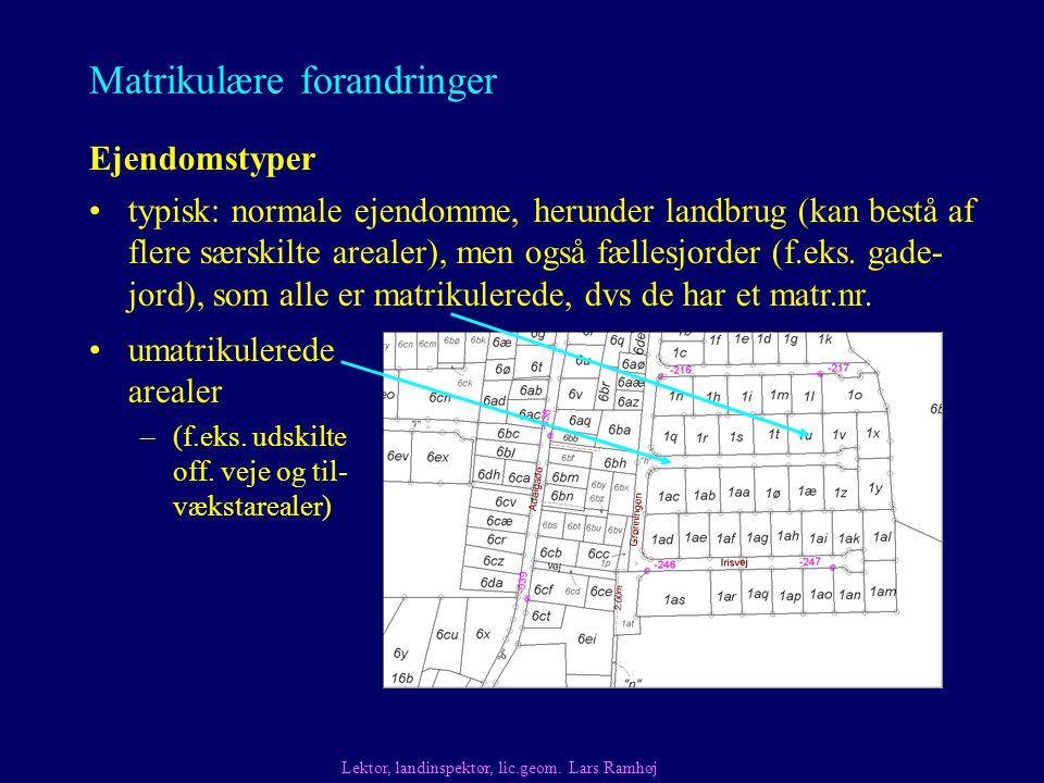 Ejendomstyper umatrikulerede arealer –(f.eks. udskilte off.