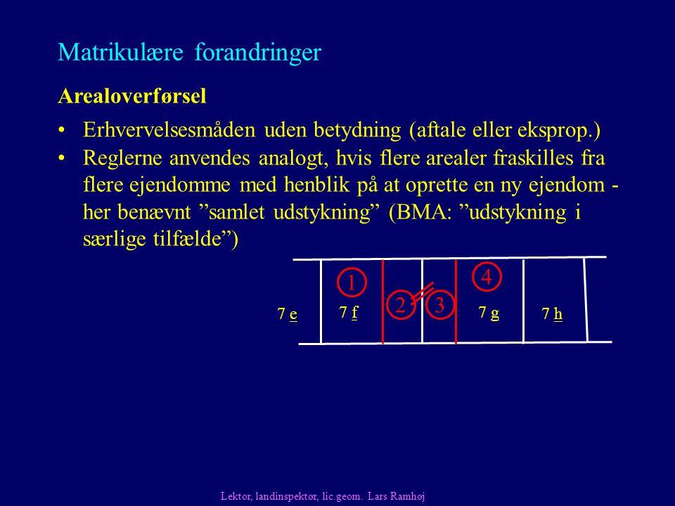 Matrikulære forandringer Arealoverførsel Lektor, landinspektør, lic.geom.