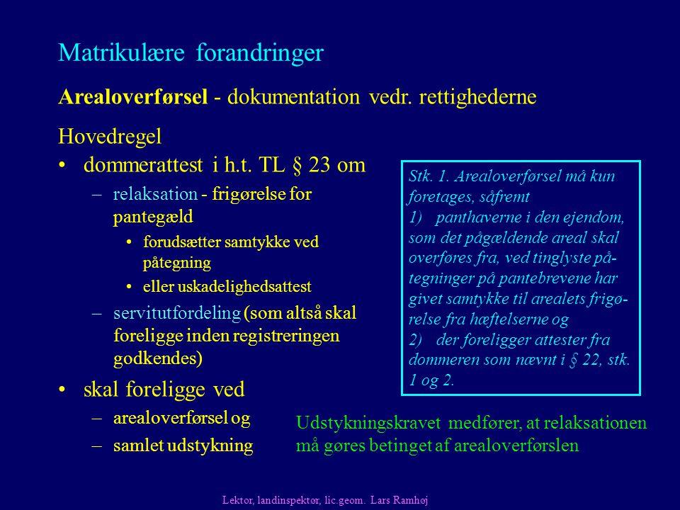 Matrikulære forandringer dommerattest i h.t.