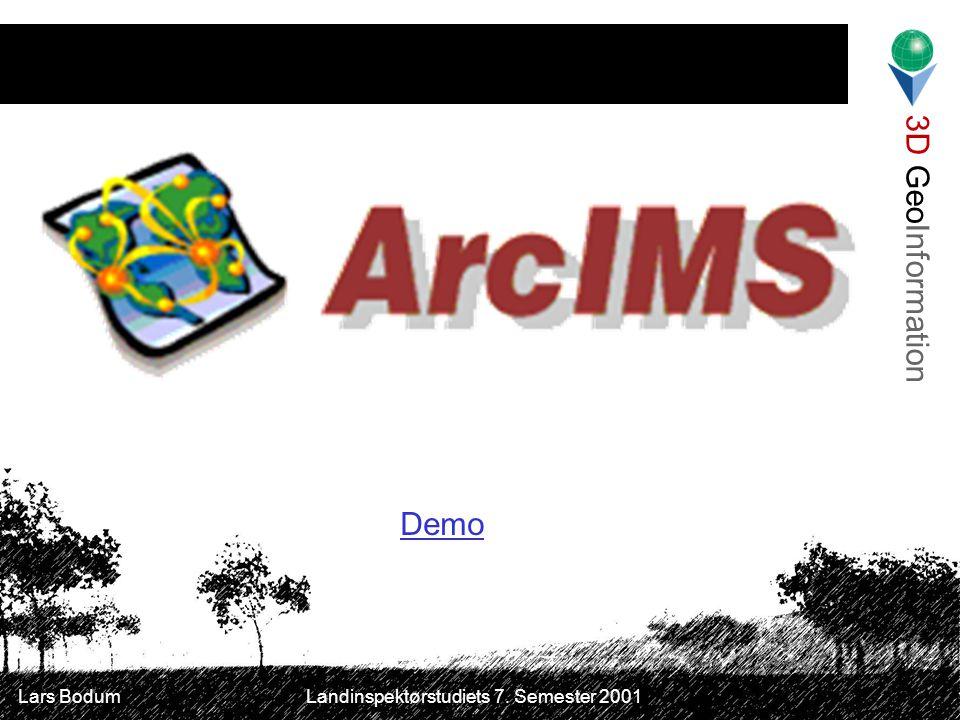 3D GeoInformation Lars Bodum Landinspektørstudiets 7. Semester 2001 Demo
