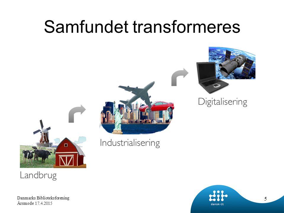Samfundet transformeres 5 Danmarks Biblioteksforening Årsmøde 17.4.2015