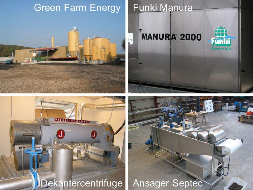 Fabrikanter af udstyr Green Farm EnergyFunki Manura DekantercentrifugeAnsager Septec