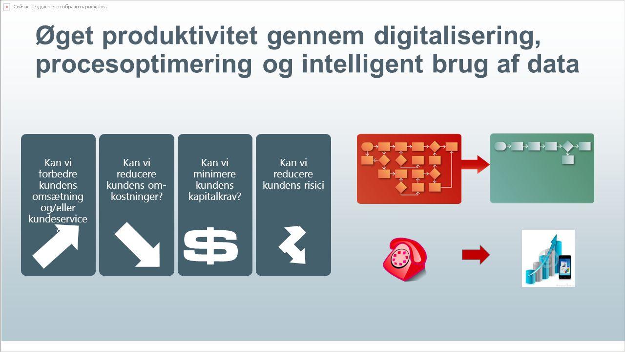 © EG A/S13 Øget produktivitet gennem digitalisering, procesoptimering og intelligent brug af data Kan vi forbedre kundens omsætning og/eller kundeservice .