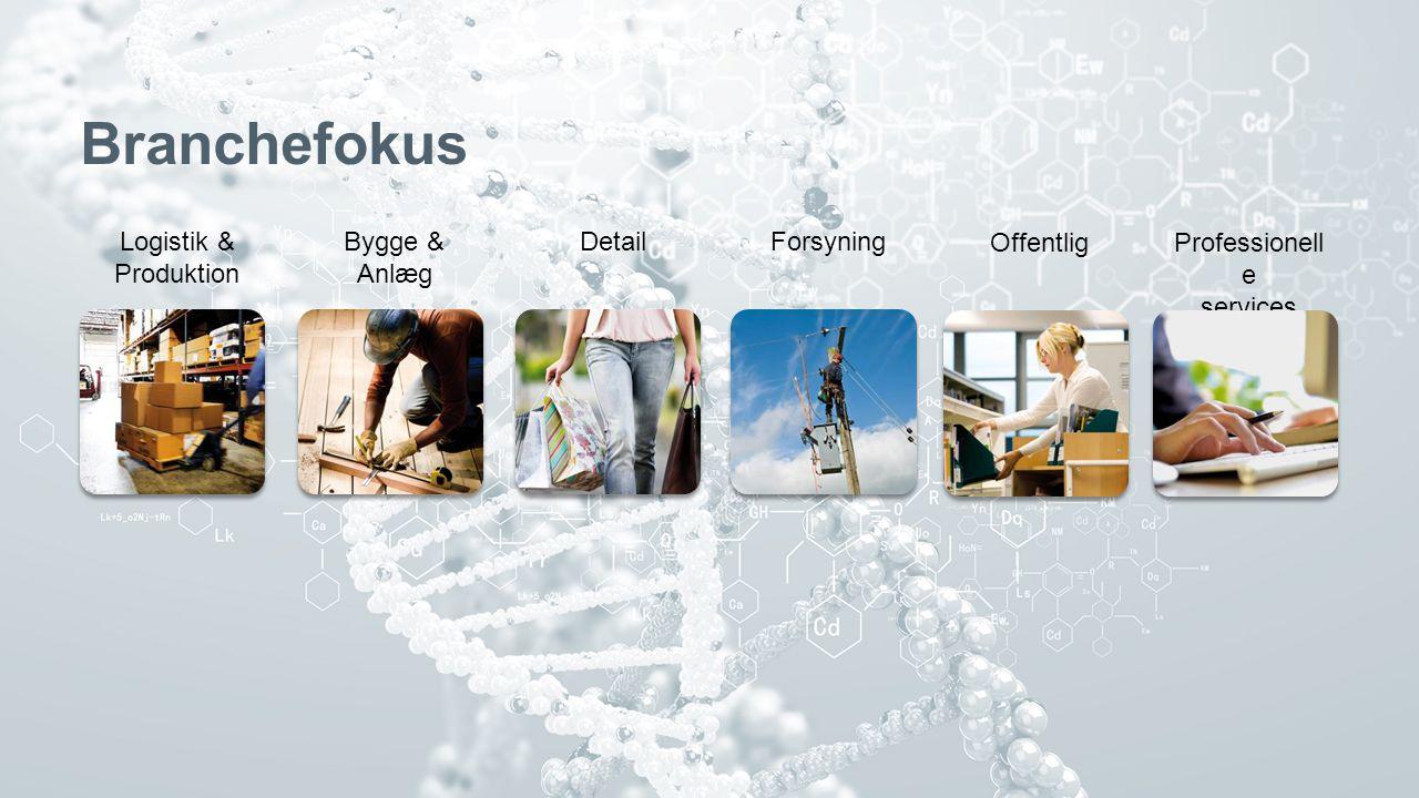 3 Branchefokus Bygge & Anlæg Logistik & Produktion DetailForsyning OffentligProfessionell e services
