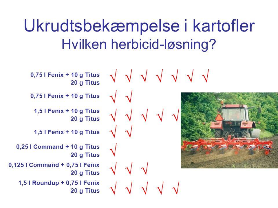 Ukrudtsbekæmpelse i kartofler Hvilken herbicid-løsning.