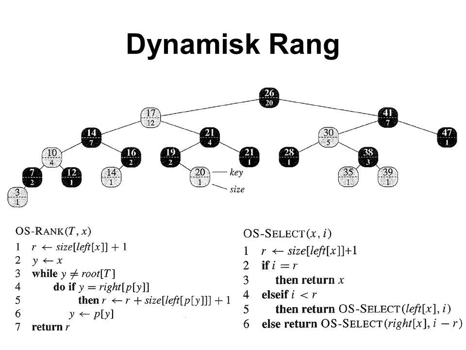 Dynamisk Rang