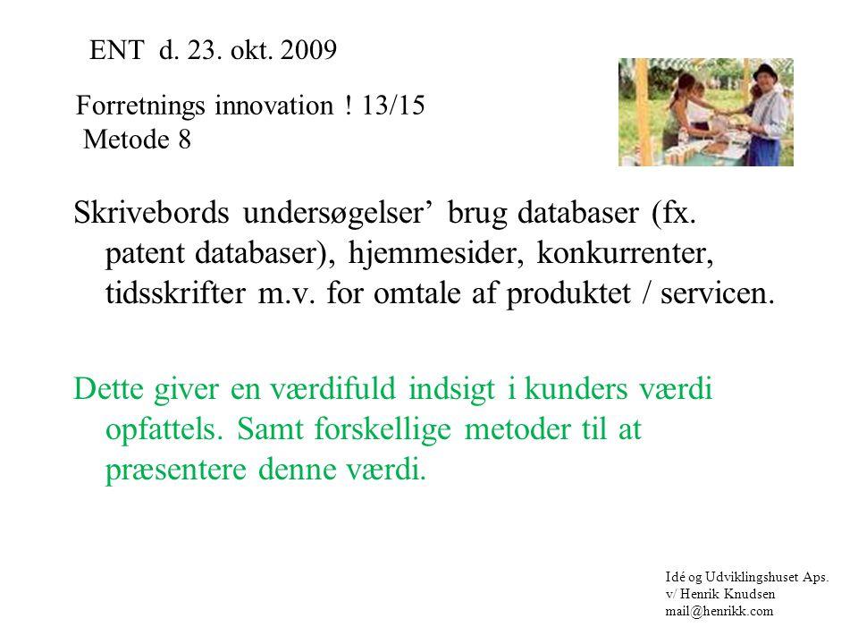 Skrivebords undersøgelser' brug databaser (fx.