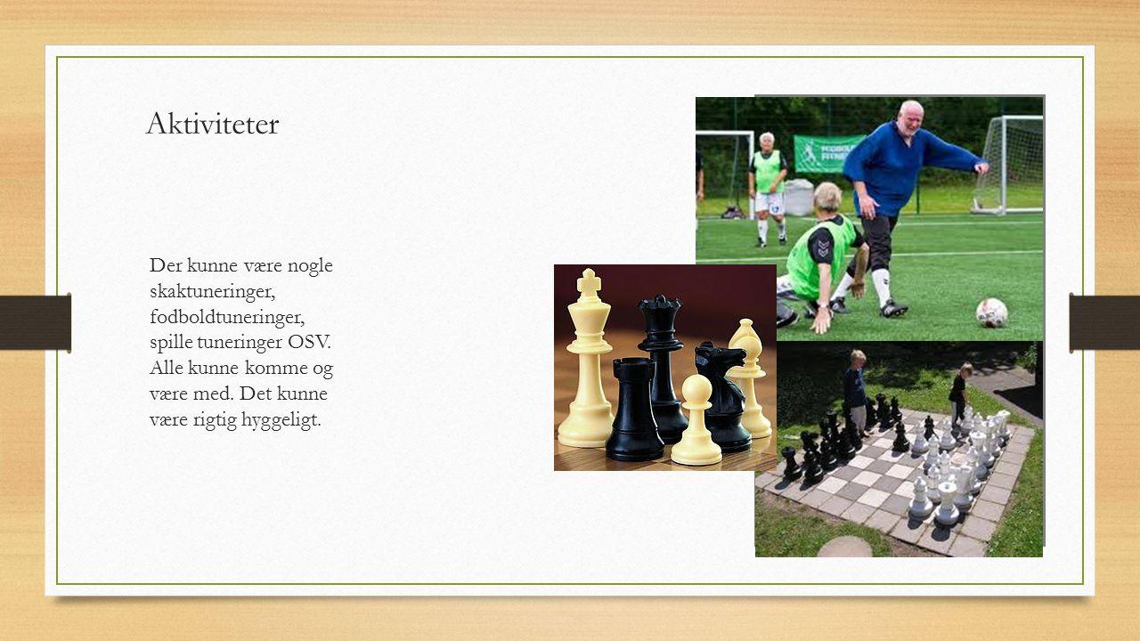 Aktiviteter Der kunne være nogle skaktuneringer, fodboldtuneringer, spille tuneringer OSV.