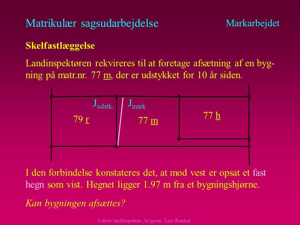 Matrikulær sagsudarbejdelse Markarbejdet Skelfastlæggelse - partsinddragelse Hvem skal inddrages.