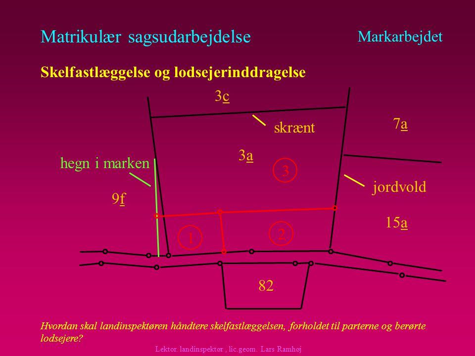 Matrikulær sagsudarbejdelse Markarbejdet Skelfastlæggelse og lodsejerinddragelse A har købt landbrugsejendommen matr.nr.
