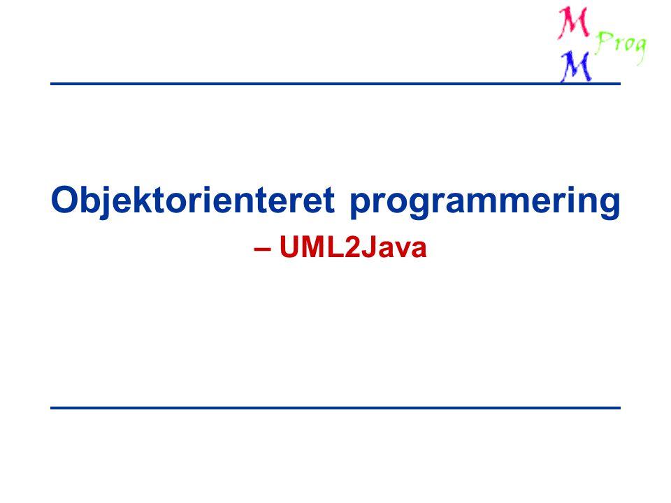 Objektorienteret programmering – UML2Java