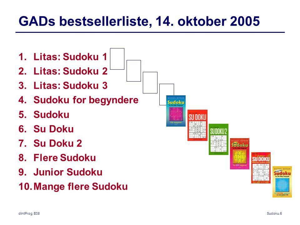 dIntProg, E08Sudoku.5 GADs bestsellerliste, 14.