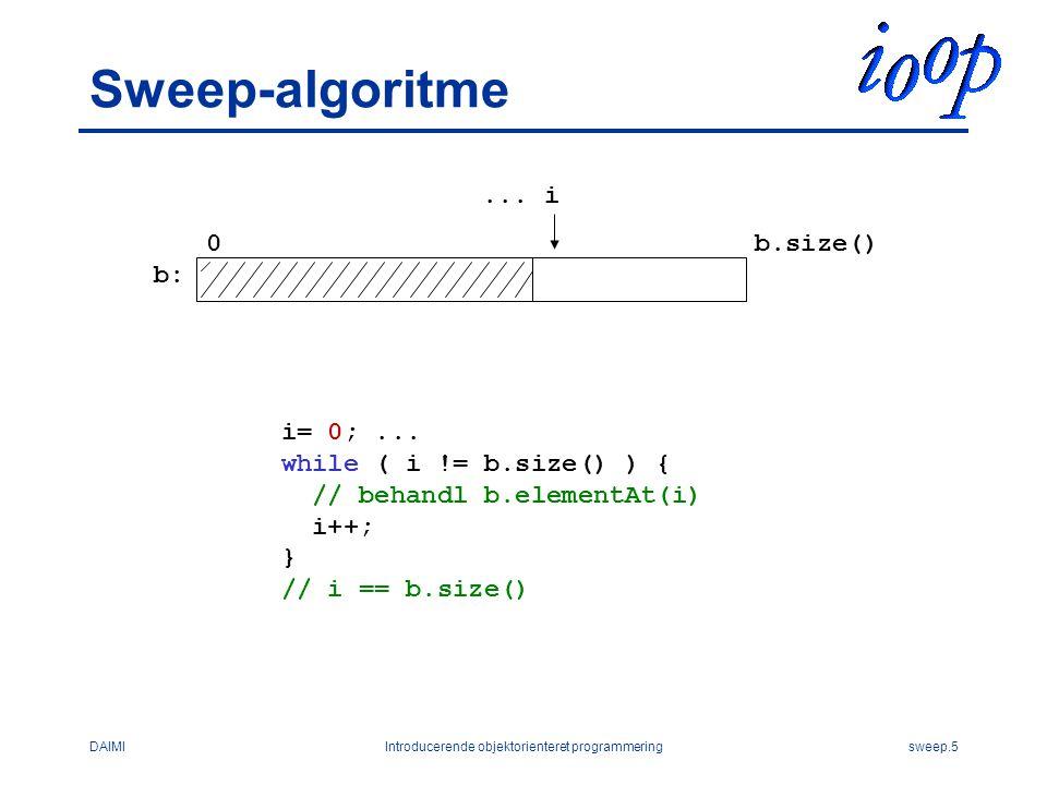 DAIMIIntroducerende objektorienteret programmeringsweep.5 Sweep-algoritme...