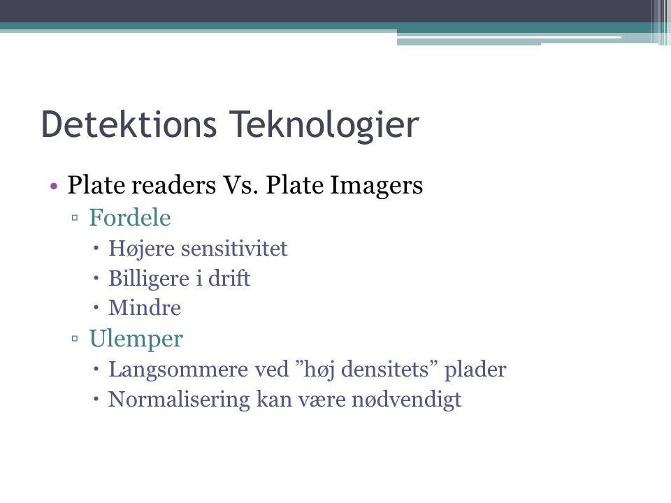 Detektions Teknologier Plate readers Vs.