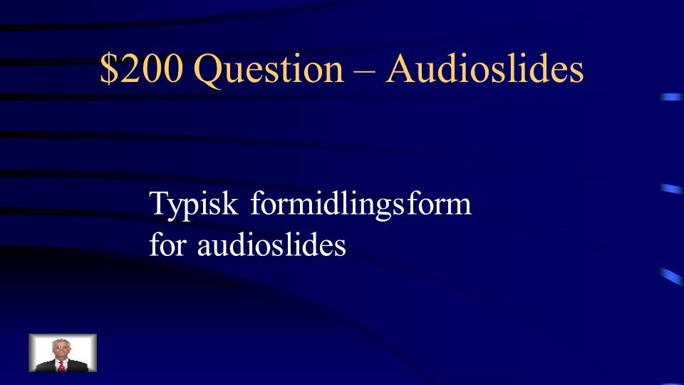 $100 Answer – Audioslides Hvad er synet og hørelsen