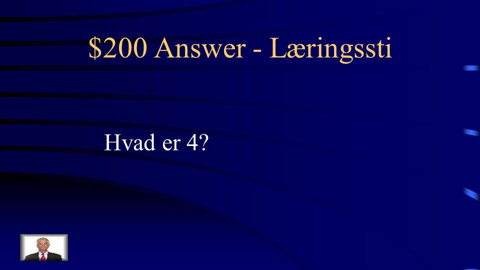 $200 Question - Læringssti Antallet af læringsstier på dette onlinekursus