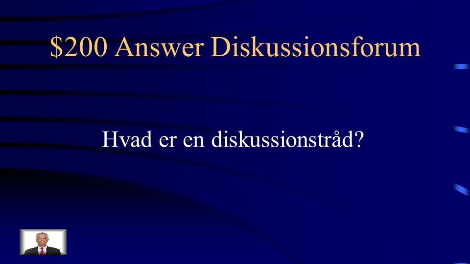 $200 Question Diskussionsforum Argumenter / underkategorier i en onlinediskussion
