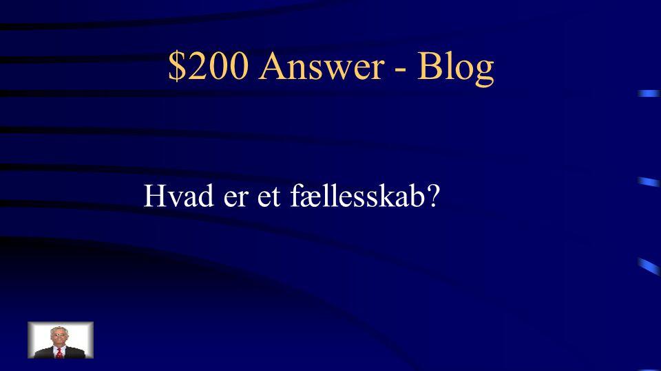 $200 Question - Blog Skab som bloggen kan være med til at skabe blandt de studerende