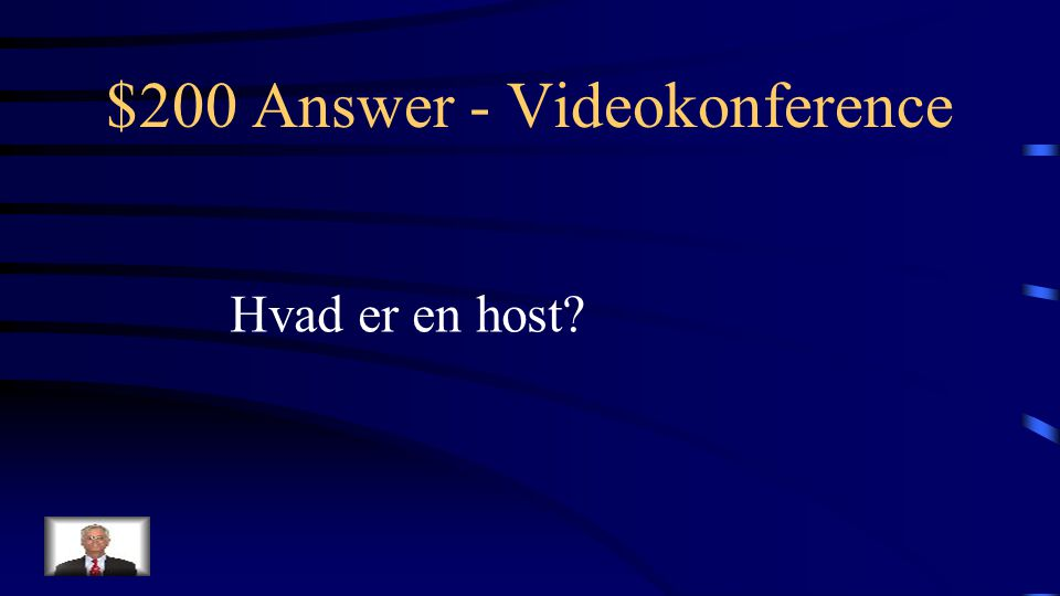 $200 Question - Videokonference Betegnelsen for en vært i Adobe Connect
