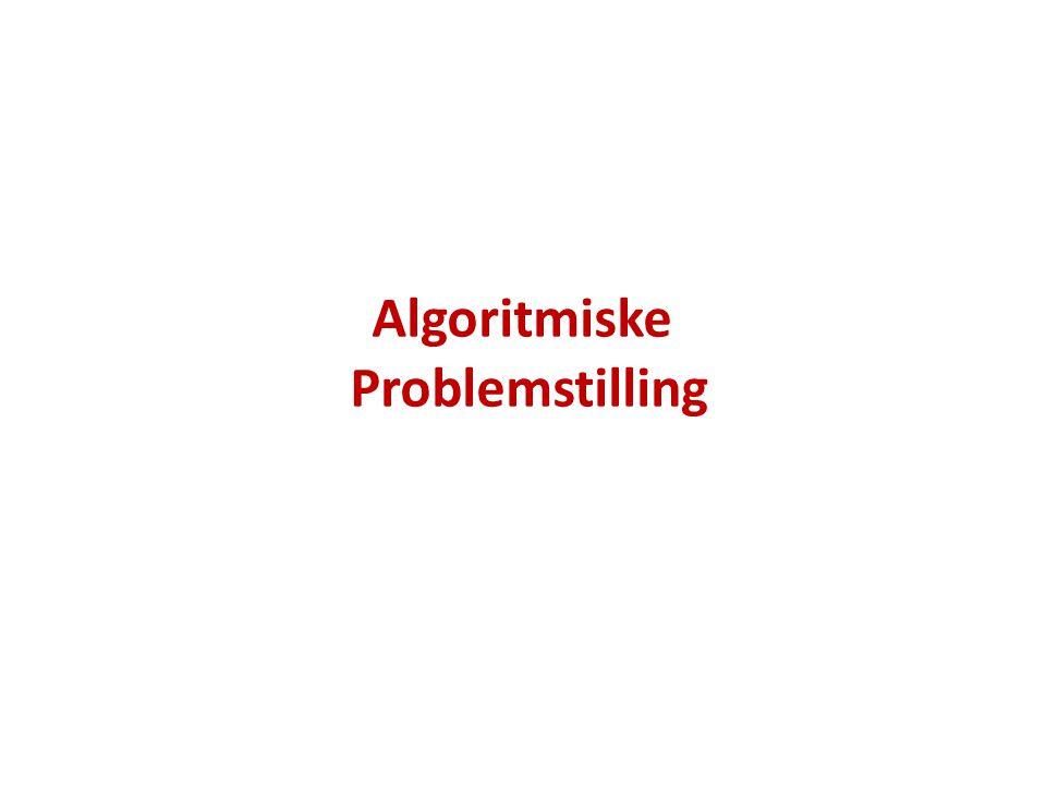 Algoritmiske Problemstilling