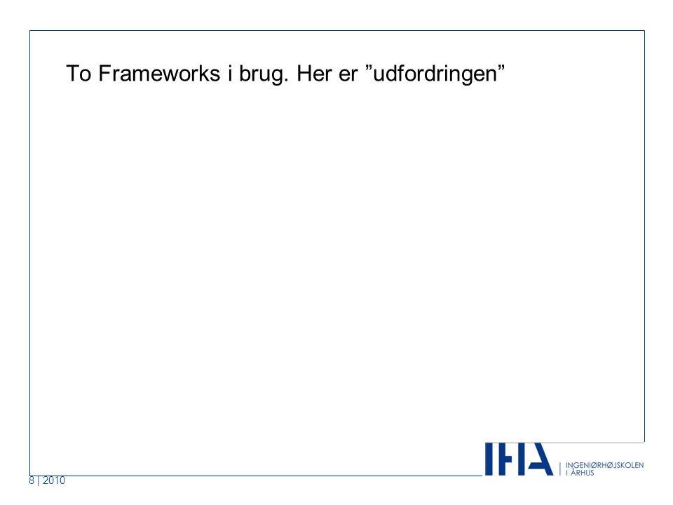 8 | 2010 To Frameworks i brug. Her er udfordringen