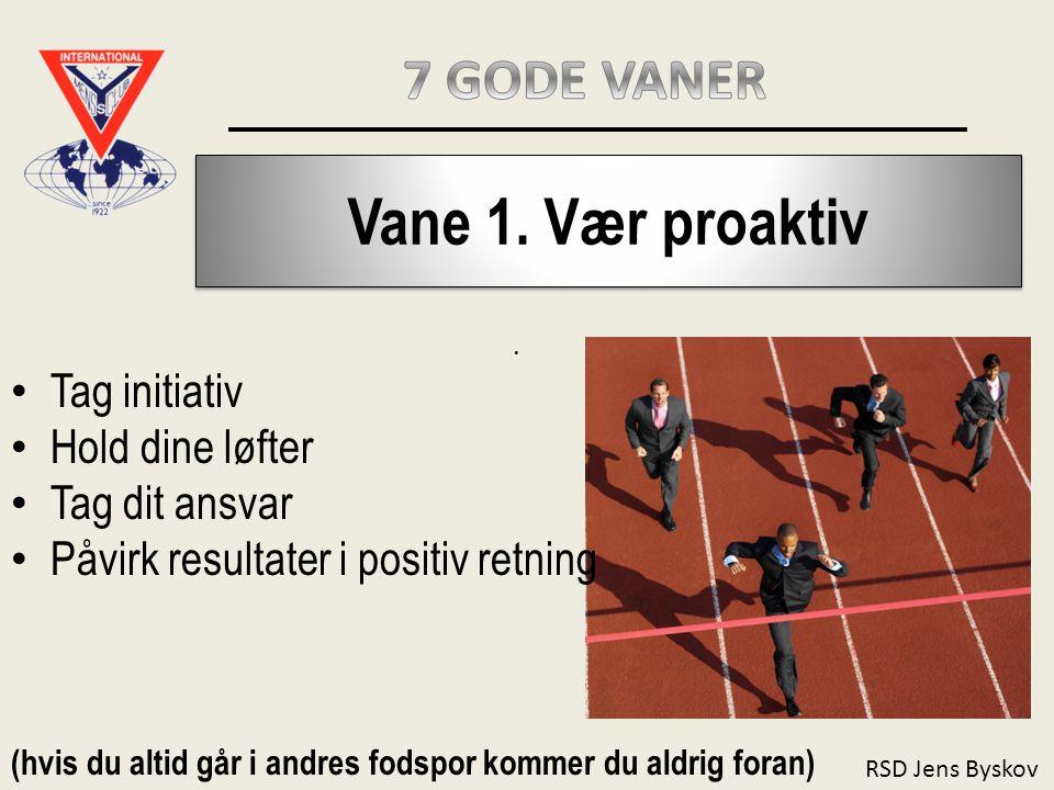 RSD Jens Byskov Vane 1.Vær proaktiv.